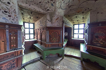 Virtual tour of Duke Karl's Chamber at Gripsholm Castle