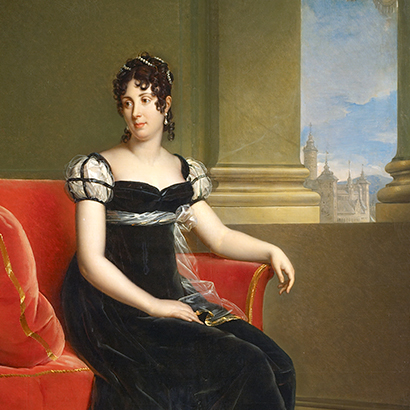Crown Princess Desideria Desiree portrait by François Gerard the Bernadotte Gallery the Royal Palace