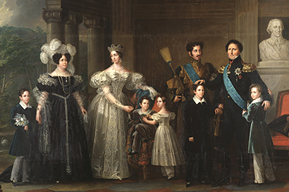 Bernadotte family portrait Queen Desideria with family Nationalmuseum